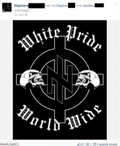 """Ständiger Bezugspunkt: Die """"weiße Rasse"""" (modifiziertes """"Azov""""-Logo, gepostet von einem Unterstützer des Bataillons)"""