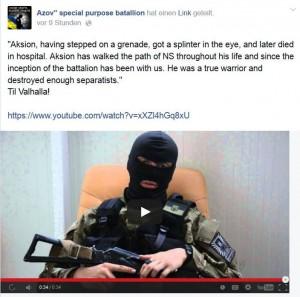 """Ein Leben auf dem """"Pfad des NS"""" - Nachruf auf einen Gefallenen des """"Azov"""""""
