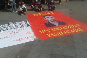 Aktivisten in Istanbul fordern Gerechtigkeit für Hasan Ferit Gedik