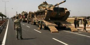 Kommt die Pufferzone? Türkischer Militärkonvoi auf dem Weg zur Grenze bei Kobane