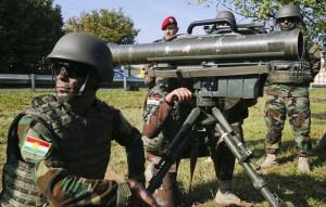 Peschmerga üben in Bayern an der Milan-Panzerabwehrwaffe