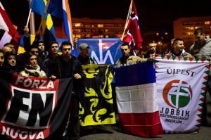 European nationalist groups at the March of Independence