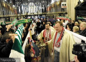 Nationalists and football fans during pilgrimage Jansa Gora