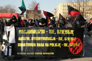 Anti-fascist demonstration in Wroclaw (2013)