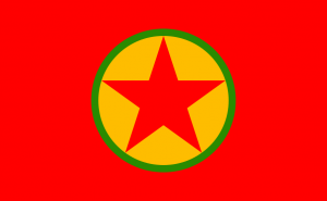 PKK-Logo nach 2005 (auch dieses Symbol ist in Deutschland, wie könnte es anders sein, verboten)