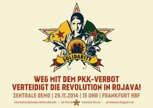Mobiplakat für die Demonstration am 29. November in Frankfurt. Derbe legal.