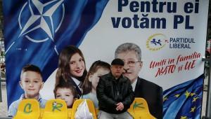Für NATO und EU - Wahlplakat der moldawischen Liberalen