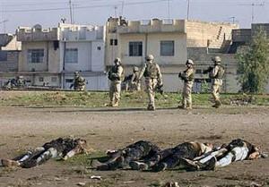Failed States, Gewalterfahrungen und Krieg - Szene aus dem Irak-Krieg