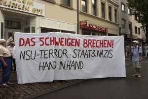 Protest zum zehnten Jahrestag des Attentats in der Kölner Keupstraße