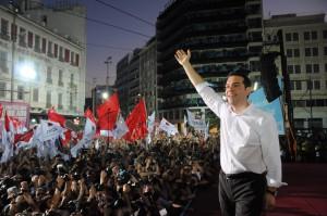 Chance für eine Offensive der radikalen Linken? Alexis Tsipras bei einer Kundgebung der griechischen Linkspartei SYRIZA