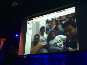 Via Skype dabei: Die Jungs der CB-Crew live aus Gaza