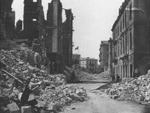 Alexandria 1882 nach dem britischen Bombardement