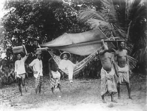Herrische Kulturzerstörer: deutscher Kolonialist in Togo