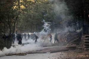 ANTARSYA bezieht sich auf eine Vielzahl sozialer Bewegungen - z.B. die Anti-Goldminen Proteste in Skouries (Chalkidiki)