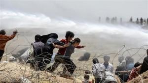 Willkommen im Sultanat: Türkische Polizei jagd kurdische Flüchtlinge aus Rojava mit Wasserwerfern an der syrisch-türkischen Grenze
