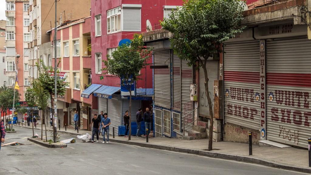 Während dem Boykott blieben alle Läden im Kiez geschlossen.