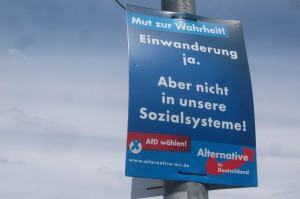 """Damit in die """"Sozialsysteme"""" keiner mehr """"einwandern"""" kann, plant die Alternative die Abschaffung der Sozialsysteme."""