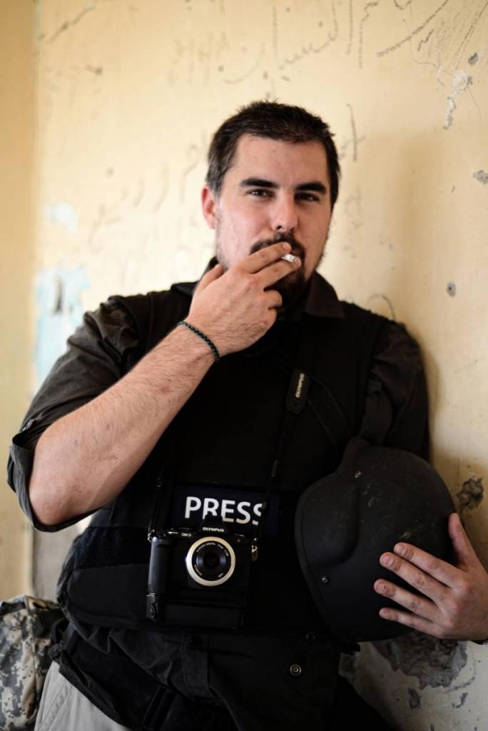 Benjamin Hiller 2013 an der Front in Rojava.