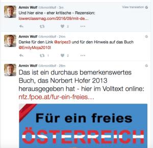 Nach freundlichem Hinweis nannte ORF-Redakteur Wolf die Rechercheure...