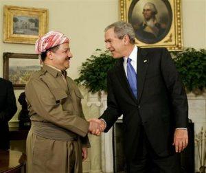 Petrodollars für Kollaborateure: Masud Barzani und George W. Bush