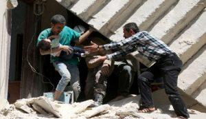 Bei Springer keine Meldung wert: Von syrischen Medien verbreitetes Foto der Opfer des Rebellenbeschusses in Aleppo, 27. Oktober 2016